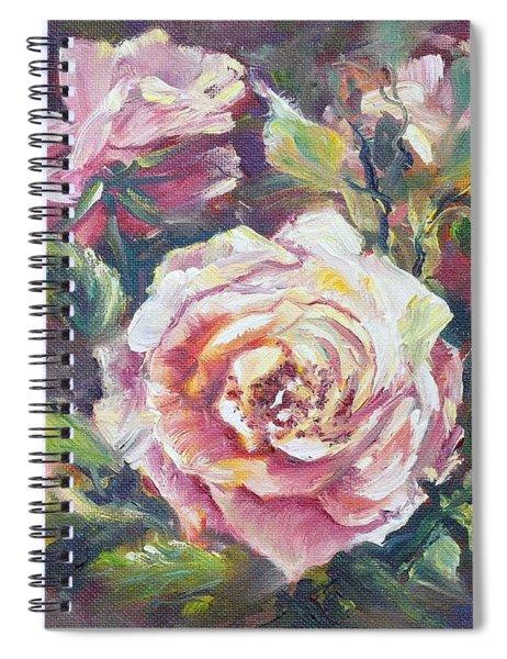 Multi-hue And Petal Rose. Spiral Notebook