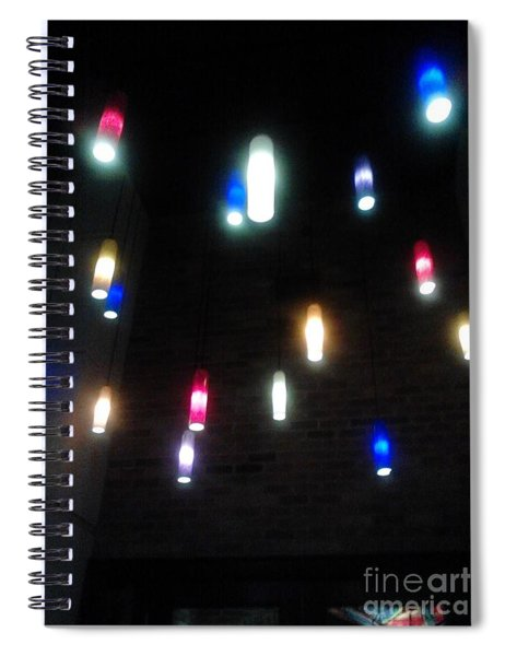 Multi Colored Lights Spiral Notebook