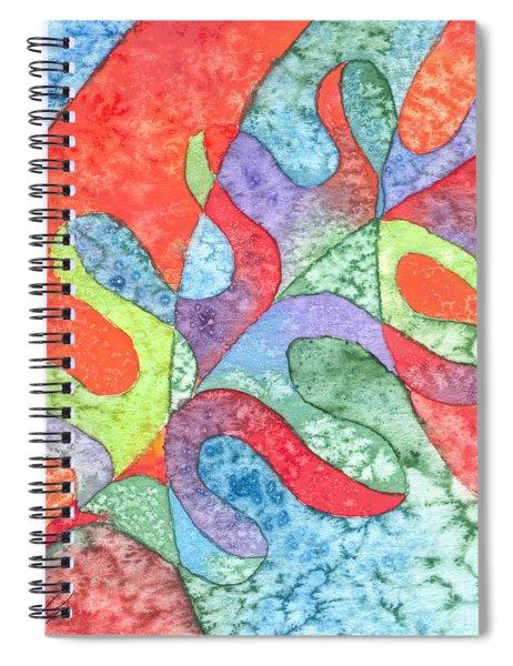 Multicolor Oak Leaf Spiral Notebook