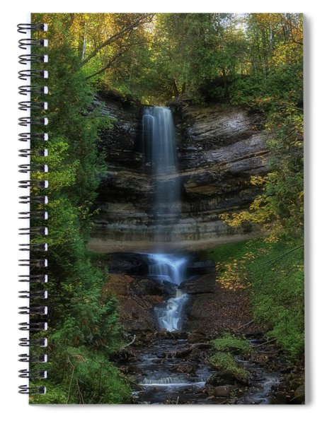 Spiral Notebook featuring the photograph Munising Falls by Heather Kenward