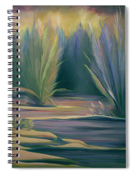 Mural Field Of Feathers Spiral Notebook