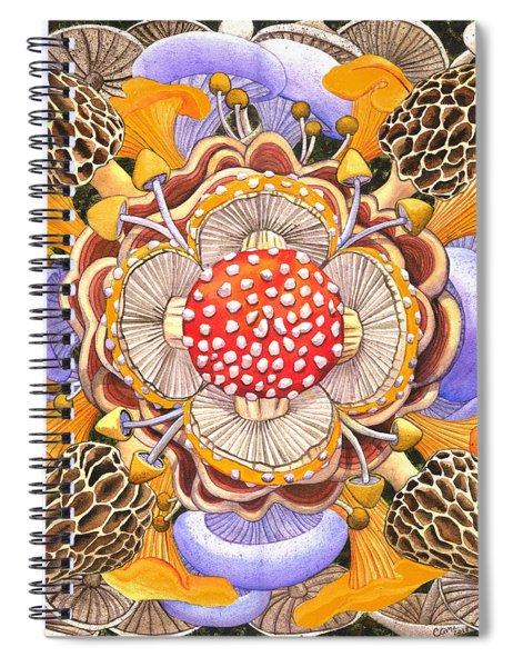 Mushroom Mandala Spiral Notebook
