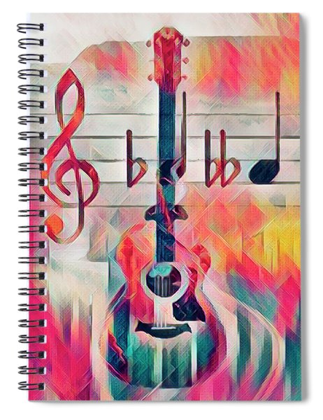 Music Is Everything Around The Block Spiral Notebook