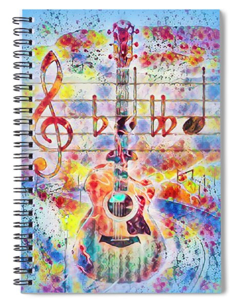 Music Is Everything Fun Times Ahead Spiral Notebook