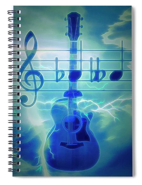 Music Is Everything Lightning Spiral Notebook