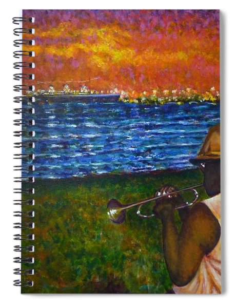 Music Man In The Lbc Spiral Notebook