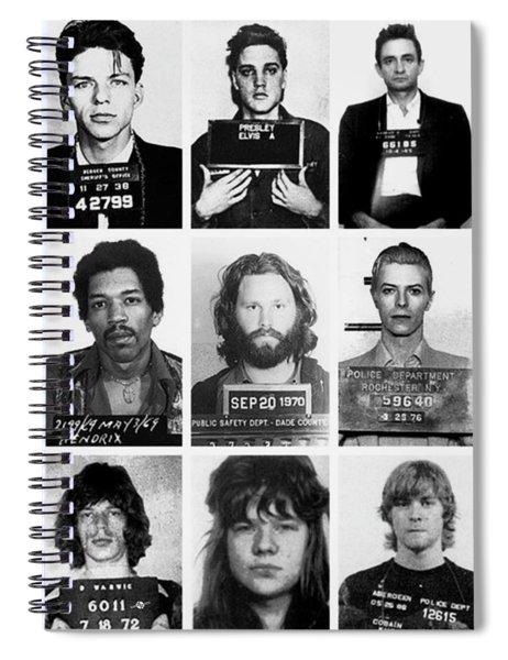 Musical Mug Shots Three Legends Very Large Original Photo 9 Spiral Notebook