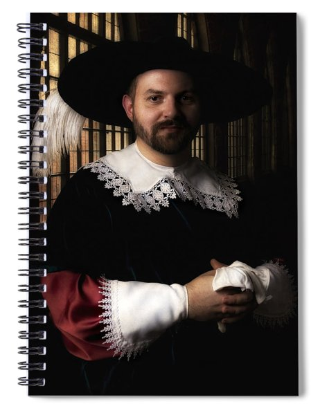 Musketeer In The Old Castle Hall Spiral Notebook