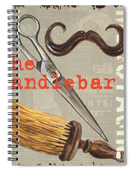 Mustache 1 Spiral Notebook by Debbie DeWitt