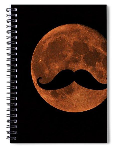 Mustache Moon Spiral Notebook