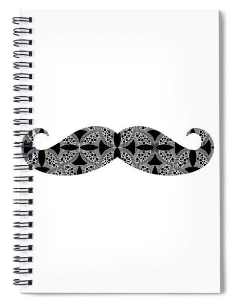 Spiral Notebook featuring the digital art Mustache Tee by Edward Fielding