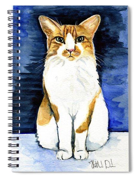 Mustached Bicolor Beauty - Cat Portrait Spiral Notebook