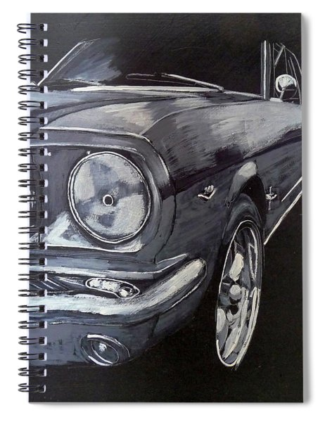 Mustang Front Spiral Notebook