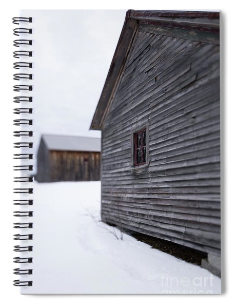 Musterfield Farm North Sutton Nh Old Buildings In The Snow Spiral Notebook