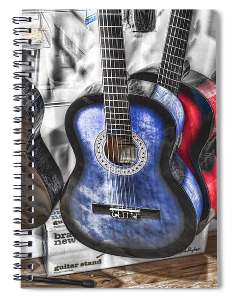 Muted Guitars Spiral Notebook