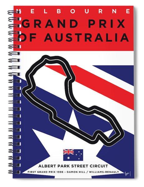 My 2017 Grand Prix Of Australia Minimal Poster Spiral Notebook