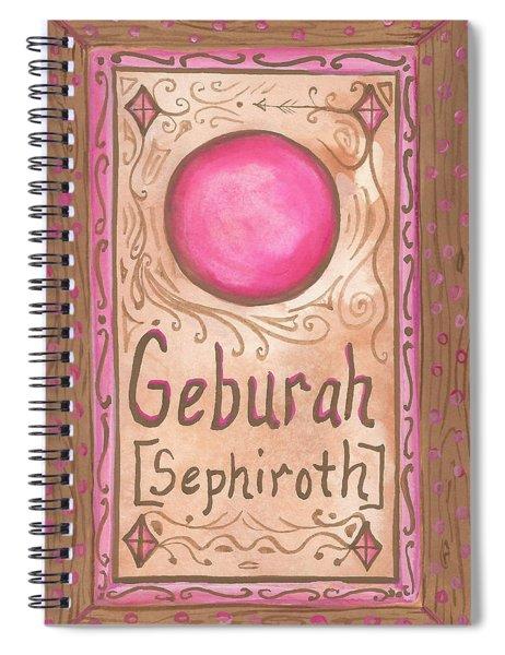 My Geburah Spiral Notebook