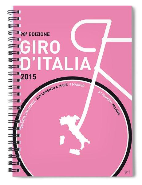 My Giro D'italia Minimal Poster 2015 Spiral Notebook