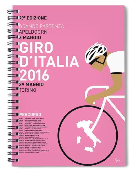 My Giro Ditalia Minimal Poster 2016 Spiral Notebook