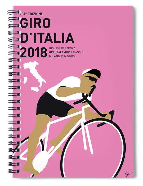My Giro Ditalia Minimal Poster 2018 Spiral Notebook