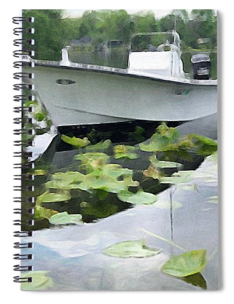 My Grandson's Boat Spiral Notebook
