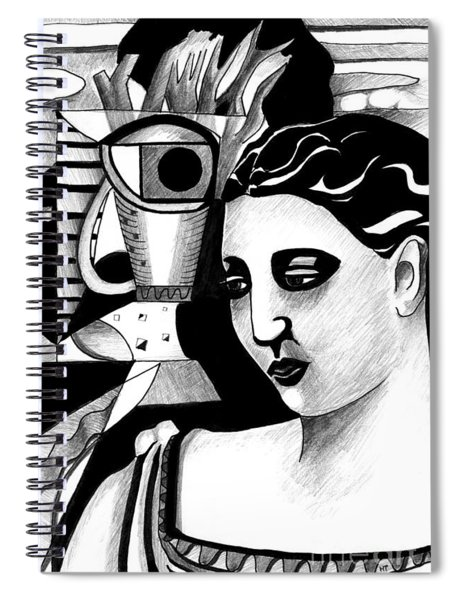 My Outing With A Young Woman By Picasso Spiral Notebook