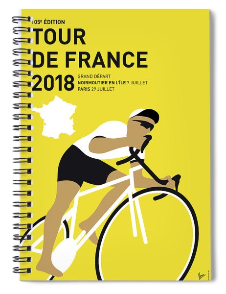 My Tour De France Minimal Poster 2018 Spiral Notebook