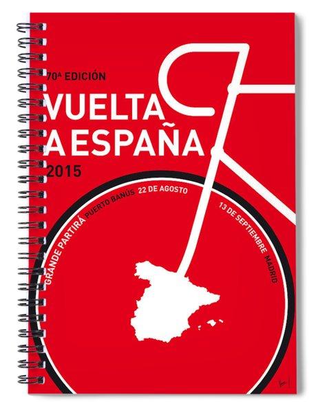 My Vuelta A Espana Minimal Poster 2015 Spiral Notebook