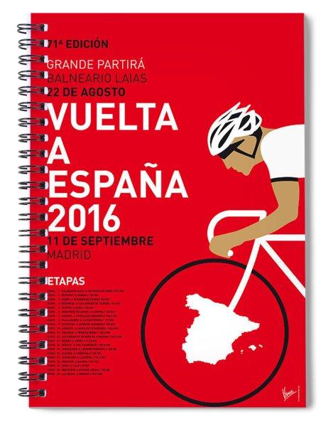 My Vuelta A Espana Minimal Poster 2016 Spiral Notebook
