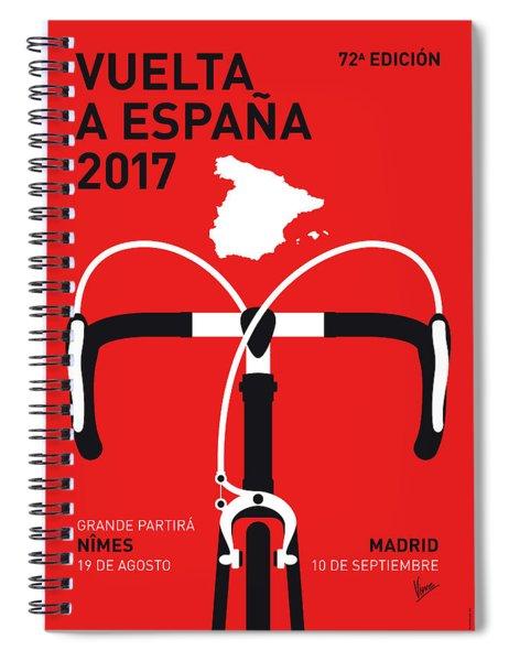 My Vuelta A Espana Minimal Poster 2017 Spiral Notebook