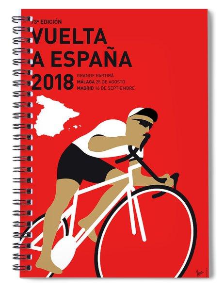 My Vuelta A Espana Minimal Poster 2018 Spiral Notebook