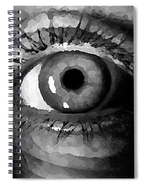 My Window In Bw Spiral Notebook