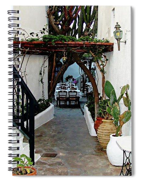 Mykonos Restaurant - Mykonos, Greece Spiral Notebook