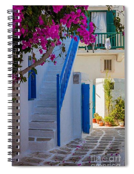 Mykonos Staircase Spiral Notebook