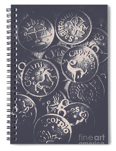Mysteries Of The Horoscopes Spiral Notebook