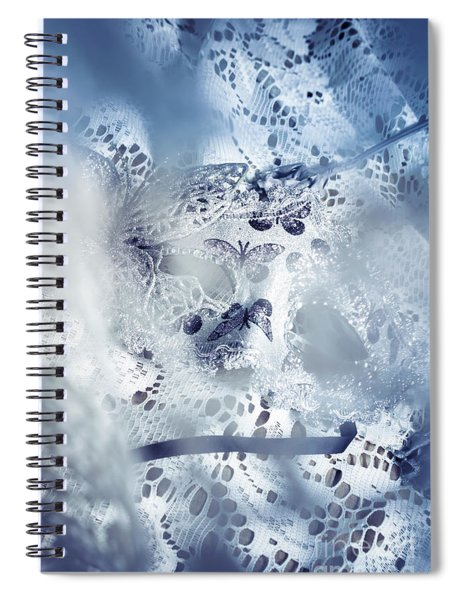Mysterious Carnival Mask Spiral Notebook