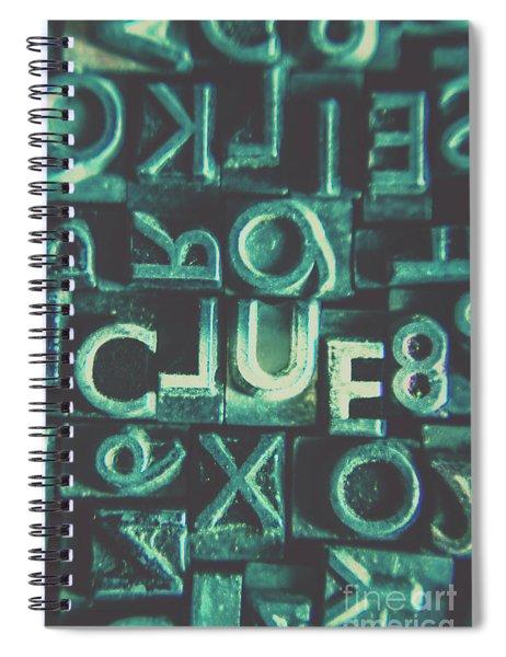 Mystery Writer Clue Spiral Notebook