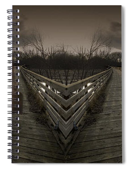 Mystic Bridge In A Dream World Spiral Notebook