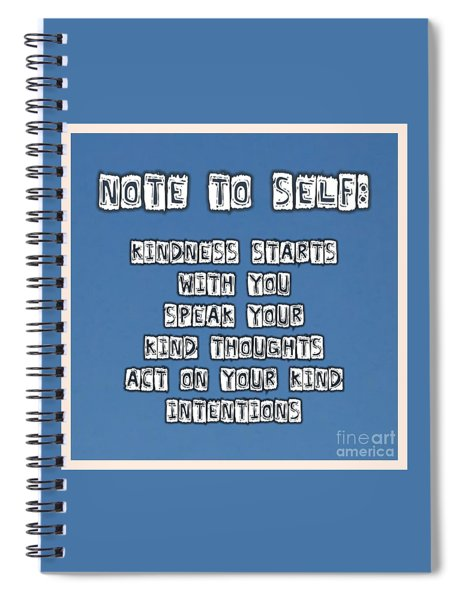 N T S Kindness  Spiral Notebook