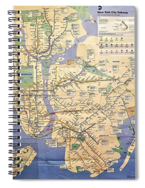 N Y C Subway Map Spiral Notebook