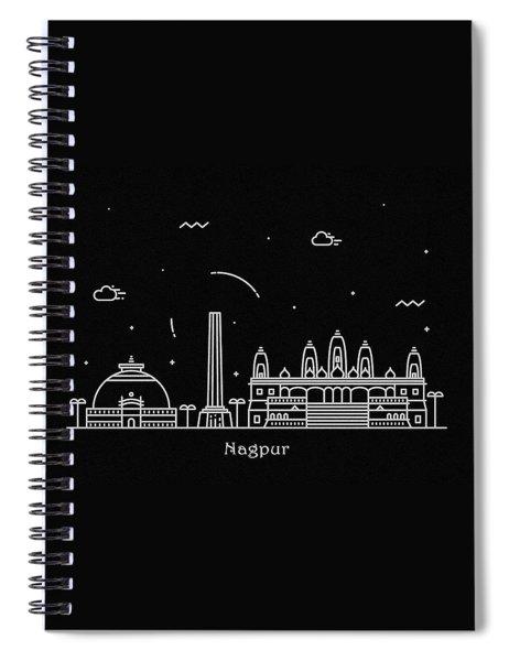 Nagpur Skyline Travel Poster Spiral Notebook
