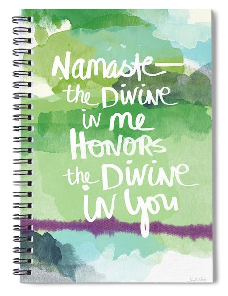 Namaste- Watercolor Card Spiral Notebook