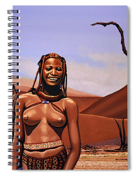 Himba Girls Of Namibia Spiral Notebook