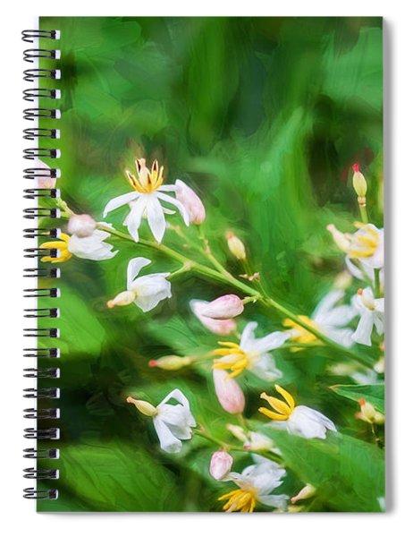 Nandina Heavenly Bamboo Painted Spiral Notebook