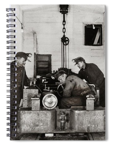 Nanticoke Pa Buttonwood Colliery Inman Shaft Glen Alden Coal Underground Motor Pit 1945 Spiral Notebook
