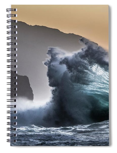 Napali Coast Hawaii Wave Explosion IIi Spiral Notebook