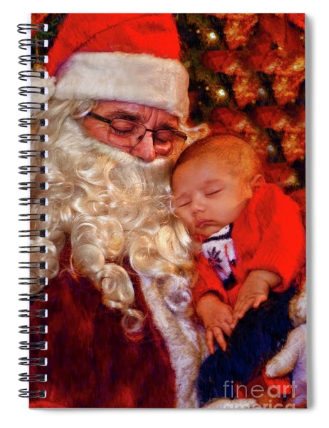 Napeing With Santa Spiral Notebook