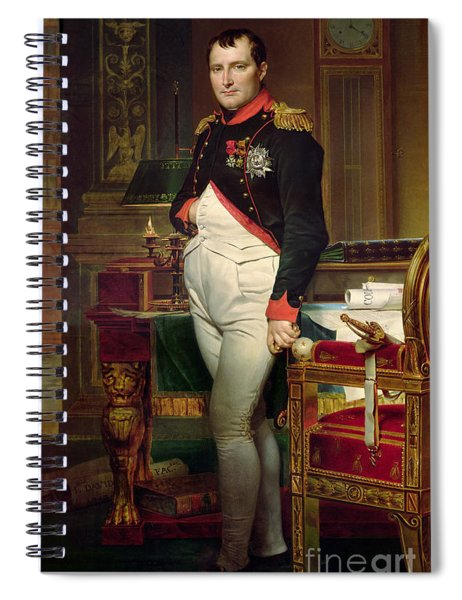 Napoleon Bonaparte In His Study At The Tuileries, 1812 Spiral Notebook
