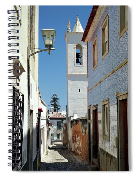 Spiral Notebook featuring the photograph Narrow Street In Tavira - Portugal by Barry O Carroll