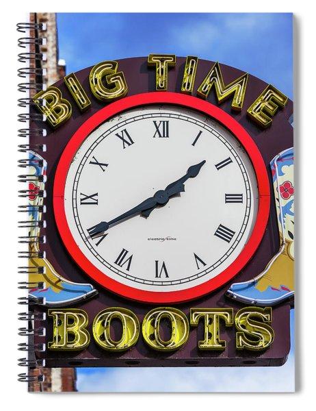 Nashville Big Time Boots Spiral Notebook